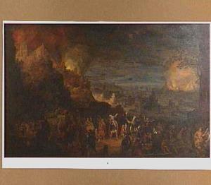 De vlucht van Aeneas uit het brandende Troje