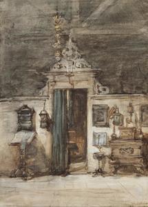 Ingang atelier van Bosboom
