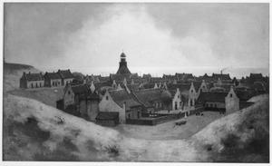 Het uitzicht vanuit het huis van Albert Verwey in Noordwijk aan Zee