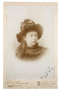 Portret van Amelia Jane Gülcher (1879-)