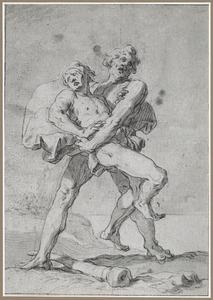Cain worstelt met Abel