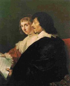 Dubbelportret van Constantijn Huygens (1596-1687) en zijn vrouw Susanna van Baerle (1599-1637)