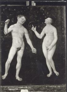 De Zondeval: Adam en Eva ontdekken elkaars naaktheid (Genesis 3)