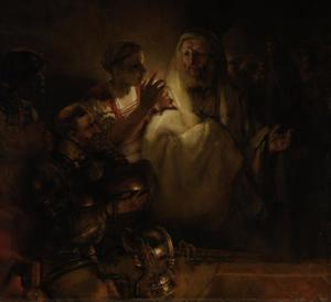 De verloochening van Petrus (Mattheus 26:69-75)