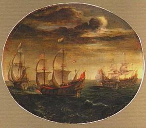 Zeeslag tussen Hollandse en Turkse schepen