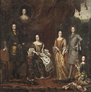 Portret van Karl XI (1655-1697) en zijn familie