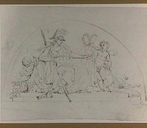 Minerva en putti, allegorie op de Vrede