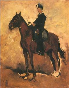 Huzaar te paard