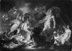De ontvoering van Europa onder het oog van Neptunus