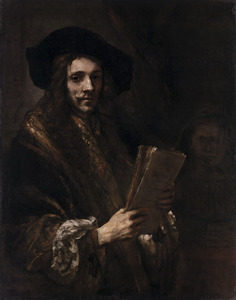 Man met een manuscript in de hand