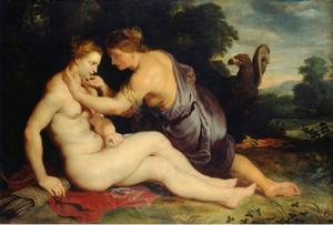 Callisto door Jupiter, vermomd als Diana,bemind