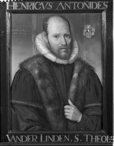 """Portret van Henricus Antoni """"Nerdenus"""" van der Linden (1546-1614)"""