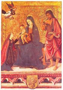 Maria met kind en heiligen Catherina van Alexandrië en Johannes de Doper