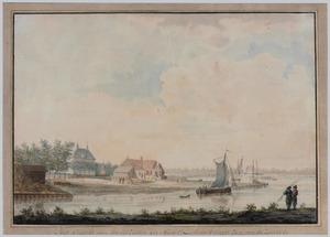 Gezicht op de uitmonding van de haven van Middelburg