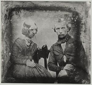 Dubbelportret van Karl Eugen Maria Hubert Apolinarius Ferdinand Weber (1820-1908) en Emily of Stratford (....-1850)