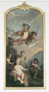 Allegorische voorstelling rond Willem V (1748-1806), Prins van Oranje