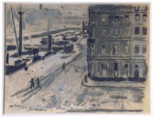 Antwerpen bij sneeuw