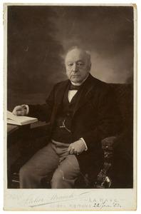 Portret van dhr. Roelof Werner Dethard Heijligers (1822-1908)