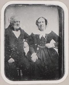 Portret van David Hendrik Royaards (1790-1848) en Louise Johanna Elisabeth Wierts (1891-1856)