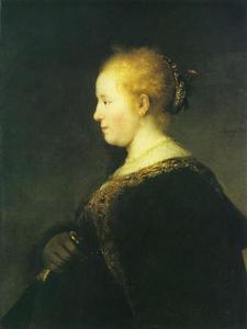 Jonge vrouw en profil