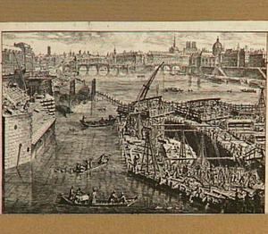 De bouw van de Pont Royal te Parijs