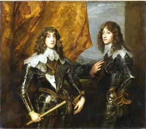 Portret van Karl Ludwig, later keurvorst van de Pfaltz en zijn broer Rupprecht van de Rijn