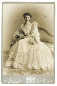 Portret van Magdalena Ferdinanda Maria Del Campo genaamd Camp (1881- )