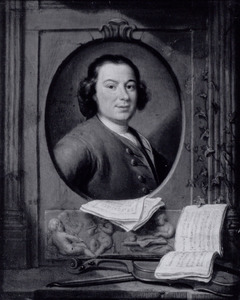 Portret van de duitse componist Anton Wilhelm Solnitz