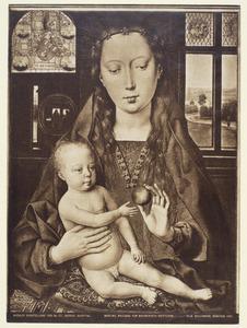 Diptiek van Maarten van Nieuwenhoven: Maria met kind op een kussen