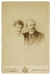 Portret van Marcus van Heloma (1866-1944) en Georgina Aleida barones d' Aulnis de Bourouill (1873-1941)