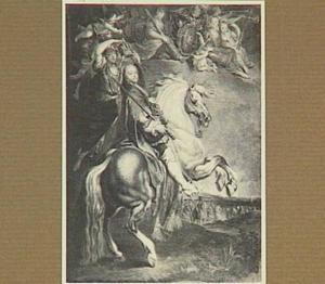 Portret van Frans III van Lotharingen te paard