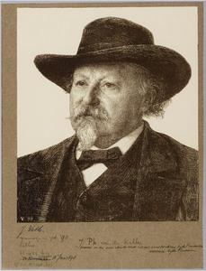Portret van J.Ph. van der Kellen