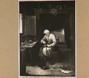Schoenmaker in zijn atelier