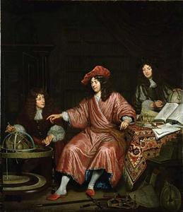 Portret van Barend van Lin (1641-1705) met zijn jongere broer en toekomstige zwager