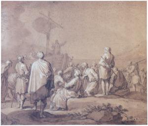 Christus preekt op het meer van Galilea