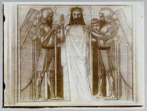 Tiende Kruiswegstatie. Jezus wordt ontkleed en met gal gelaafd
