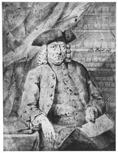 Portret van Hendrik Busserus, kunstverzamelaar (1701-1781)