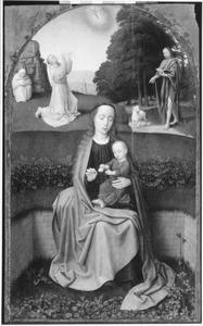 Maria met kind en de heiligen Franciscus en Johannes de Doper