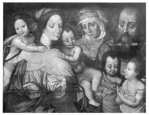 De Heilige Maagschap: Anna en Joachim met Maria Cleophas en haar vier zonen