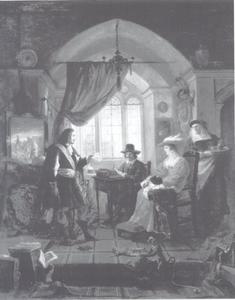 Rembrandt in zijn atelier