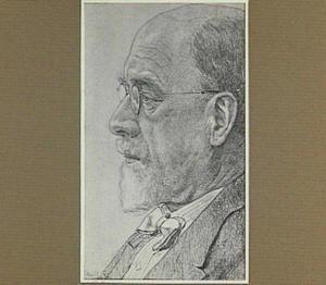 Portret van de binnenhuisarchitect en schilder Jac. P. van den Bosch