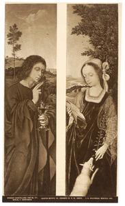 Johannes de Evangelist (links); de H. Agnes (rechts)