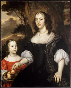 Dubbelportret van Susanna Calandrini (1626-1696) en haar dochter Maria Cunaeus (1655-1724)