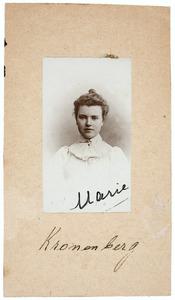 Portret van Maria Elisabeth Kronenberg (1881- )