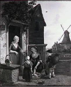 De visverkoopster (Gortmolen (?) te Den Haag)