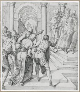 Christus gebracht voor koning Herodes