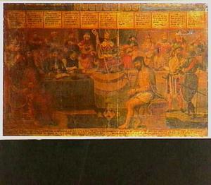 Christus na de geseling. In de achtergrond profeten en figuren uit het Nieuwe Testament