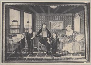 Portret van Petrus Cornelis Kraakman (....-....) en zijn gezin