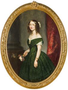 Portret van Caroline Mechtild Emma Charlotte Christine Louise zu Waldeck und Pyrmont (1826-1899)
