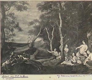 Landschap met de dood van Actaeon